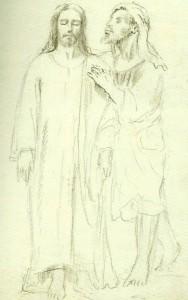 1925. Boceto Cristo
