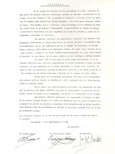 1925. Contrato Cristo
