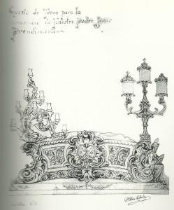 1954. Boceto Trono Cristo