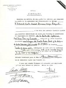 1961. Contrato Cristo