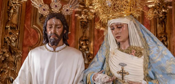 Nuestros Sagrados Titulares ataviados para la Solemnidad de la Inmaculada Concepción
