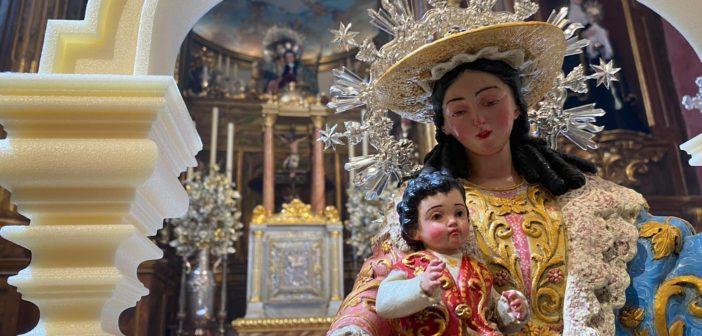 Bendecida la nueva imagen de la Divina Pastora para el trono de Mª Stma. del Gran Perdón