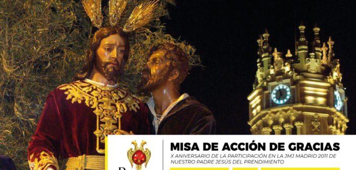 La Hermandad del Prendimiento celebra el X aniversario de la participación en la JMJ Madrid 2011